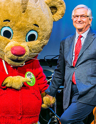 Jim Pagliarini with Daniel Tiger