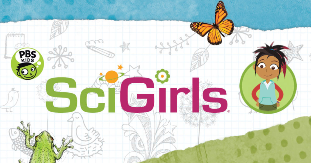SciGirls promotional image and logo