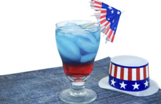 patriotic drink with hat