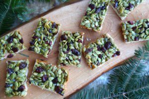 Cranberry Pumpkin Seed Bars