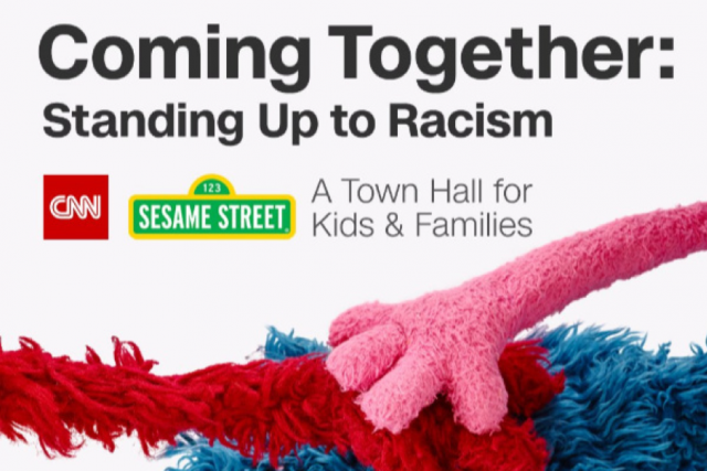 Sesame street racism event graphic